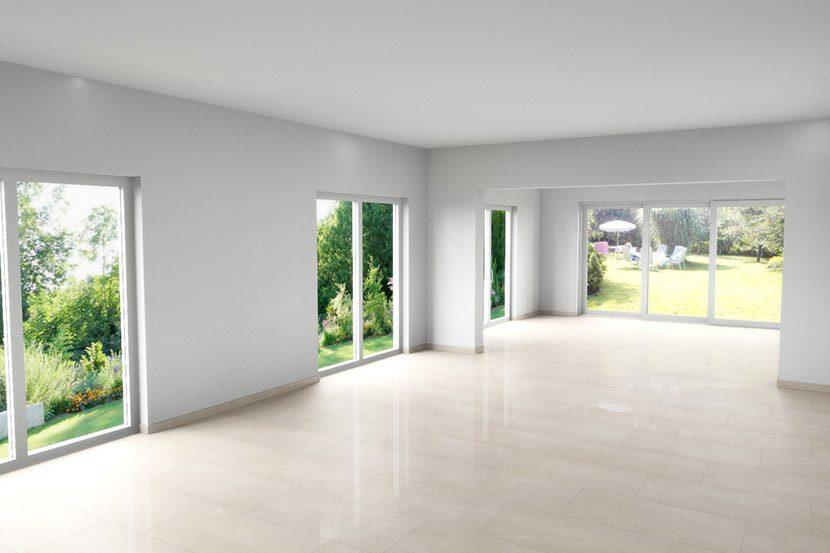 Design-Idee: Cad-Planung Für Ein Wohnzimmer Mit Hellem Marmorboden