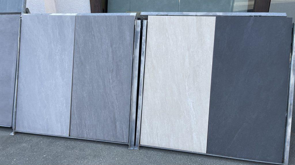 Feinsteinzeug Terrassenplatten im Superformat